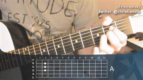 youtube tutorial de guitarra acustica como tocar guitarra acustica curso leccion 7 acorde de la