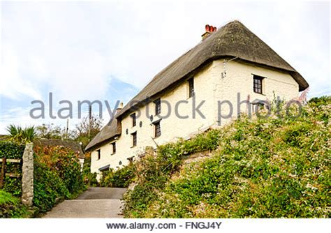 thatched cottage at church cove on the lizard peninsular