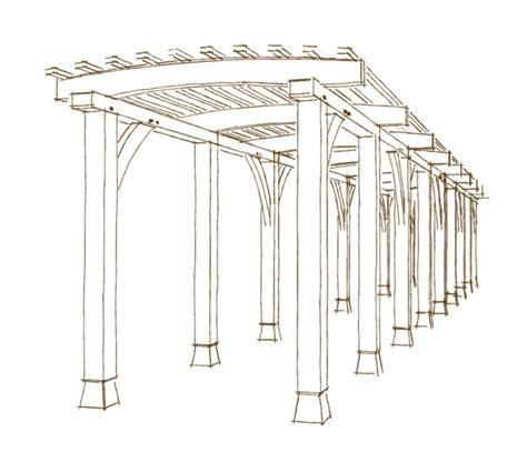 veranda dwg woodwork drawing plans a pergola pdf plans