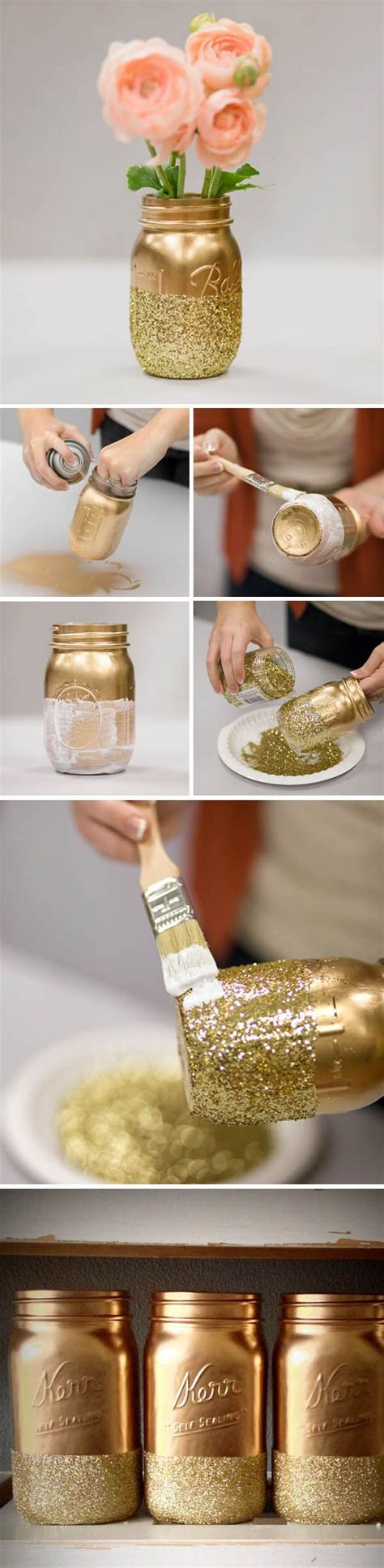 floreros con mason jars ten inspirational diy mason jar ideas for weddings gold