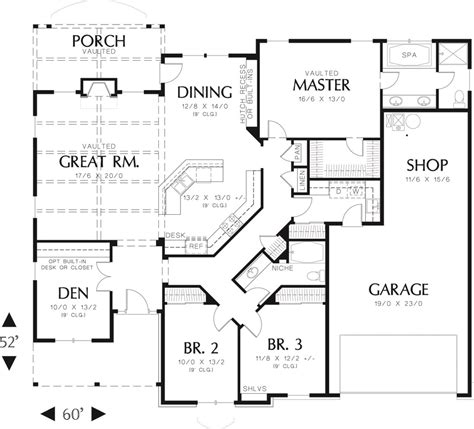 craftsman home plans 2000 square feet main level floor plan 2000 square foot craftsman home