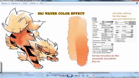 watercolor tutorial sai antonio ilustra criando brushs paint tool sai 2 youtube