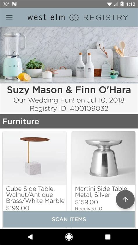 Wedding Registry West Elm by West Elm Registry Android Apps On Play