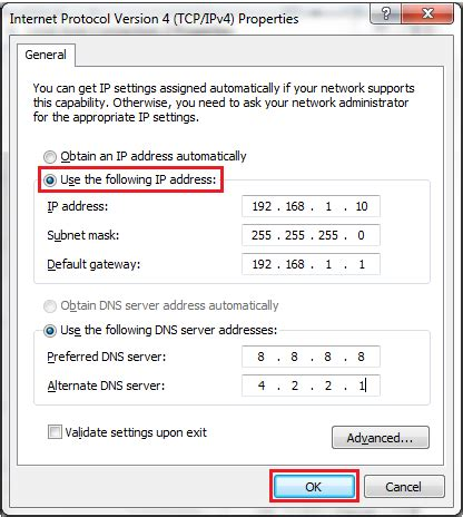 reset ip 1880 manual how to set a static ip address in windows answer