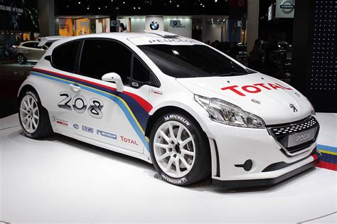 peugeot fast peugeot 208 type r5 rally car looks fast sitting still