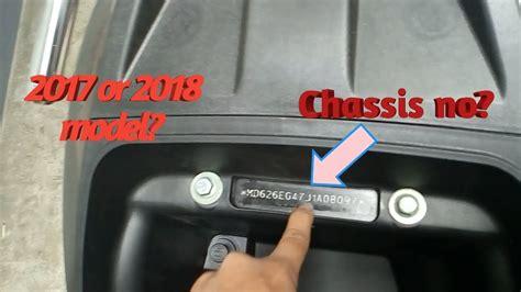 tvs jupiter chassis number details   model