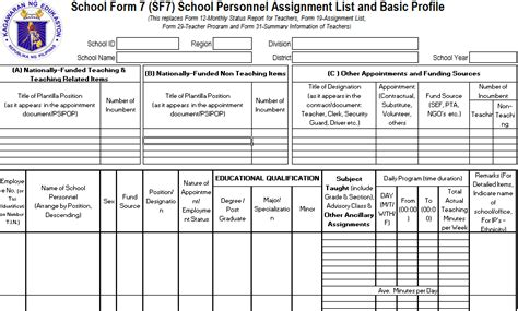 school form complete deped school forms updated deped lp s