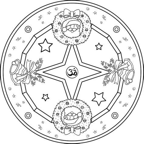 imagenes de mandalas navide as para pintar mandala navide 241 o 1 mandala para pintar con motivos