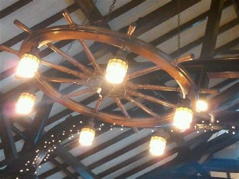 ship wheel chandelier 29 best images about cave on wood floor