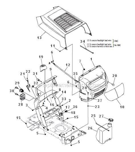 mtd yard machine parts diagram mtd lawn tractor deck diagram mtd wiring diagram and