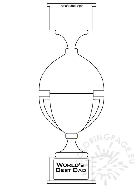 world s best trophy card coloring page
