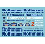 120 Williams FW16 Sponsor Decal Rothmans For Fujimi