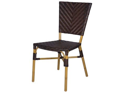 source outdoor furniture capri wicker dining side chair