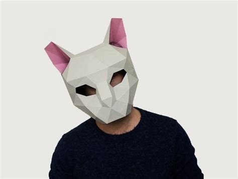 make your own cat mask animal mask instant pdf download