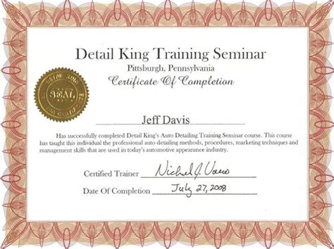 Certificates of Training and Awards