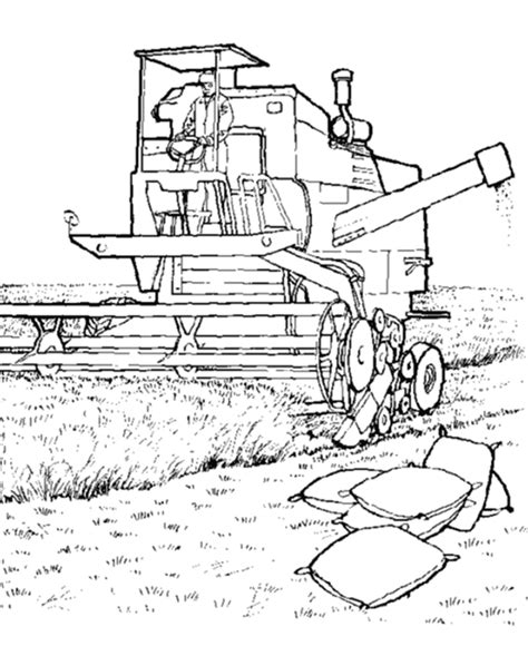 farm tractor coloring page farm equipment coloring page harvester machine in the