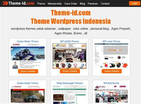 themes wordpress indonesia theme id theme wordpress indonesia jasa pembuatan