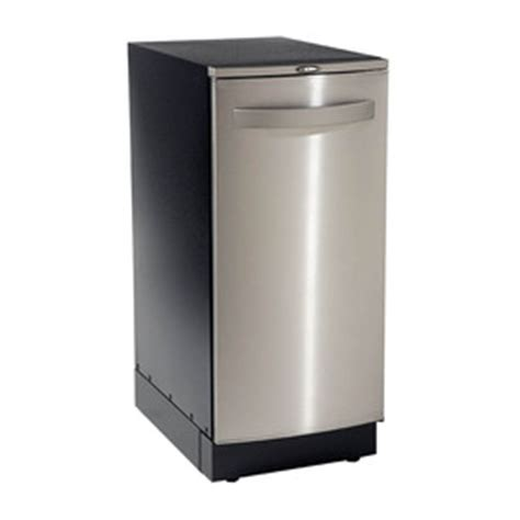free standing trash compactor shop broan 15 in stainless steel undercounter trash