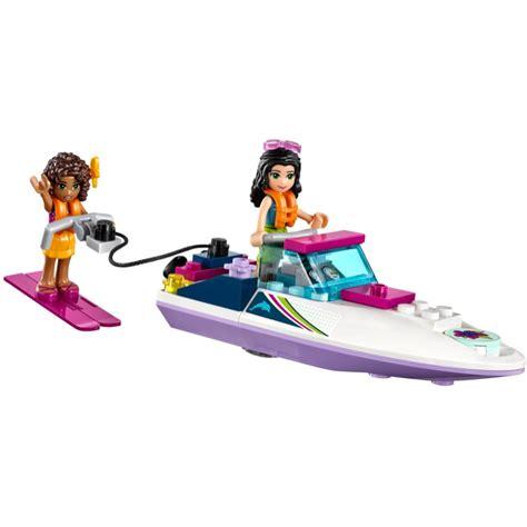 lego friends speedboat lego friends sets 41316 andrea s speedboat transporter new