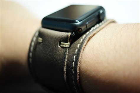 Handmade Leather Bands - buongustoitaliano handmade leather cuff apple band