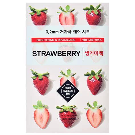 Masker Etude Strawberry etude house 0 2 therapy air mask strawberry chuusi