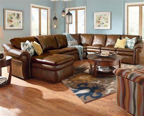 Leather Sectionals With Chaise And Recliner by La Z Boy 5 Sectional With Ras Chaise And 2 Recliners Furniture