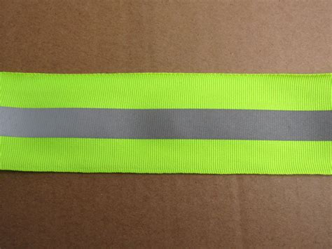 upholstery edging strip 50mm 15mm width green reflective material reflective