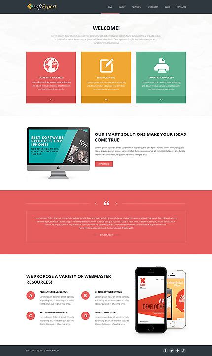 joomla template software design software development responsive joomla template