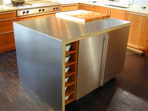 metal island kitchen stainless steel countertop brooks custom