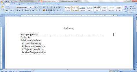 cara membuat titik daftar isi menggunakan tab cara membuat daftar isi dengan titik titik melalui quot tab