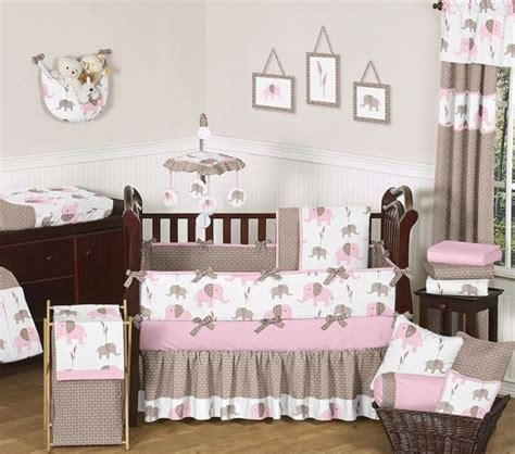 baby elephant nursery bedding elephant pink 9 crib bedding collection