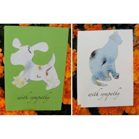 pet sympathy card plantable or cat forget me not