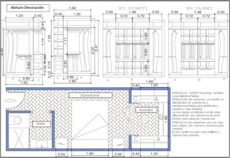 medidas para vestidores como dise 209 ar un vestidor