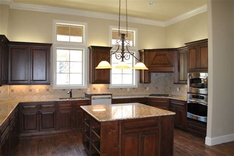 pecan wood cabinets kitchen