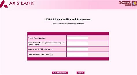 Credit Card Form Of Axis Bank Explore India Axis Bank Credit Card Statement