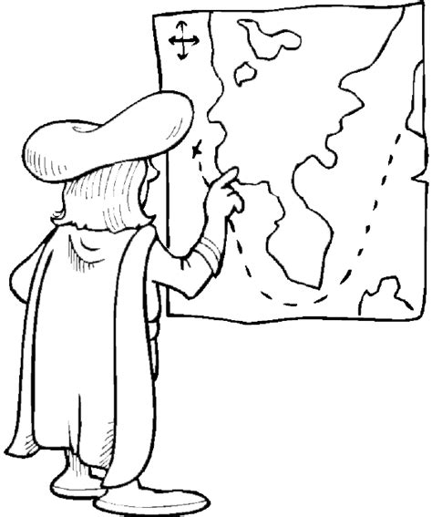 coloring pages columbus day printable columbus day coloring page christopher columbus plots the