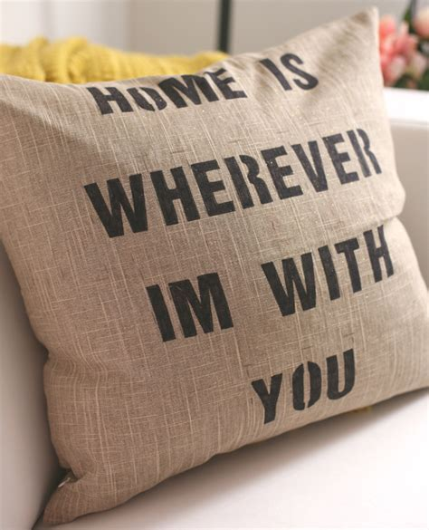 Pillow Quote by Diy Quote Pillows Momtastic