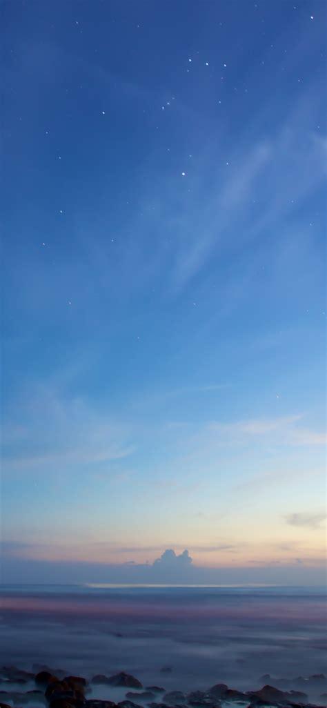 clear sky wallpaper  sunset dusk blue sky starry sky