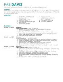 Dishwasher Resume Sample Best Dishwasher Resume Example Livecareer