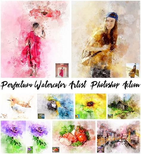 watercolor tutorial photoshop cs4 perfectum watercolor artist photoshop action free download