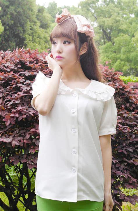 Blouse Yukaa popular sailor collar blouse buy cheap sailor collar
