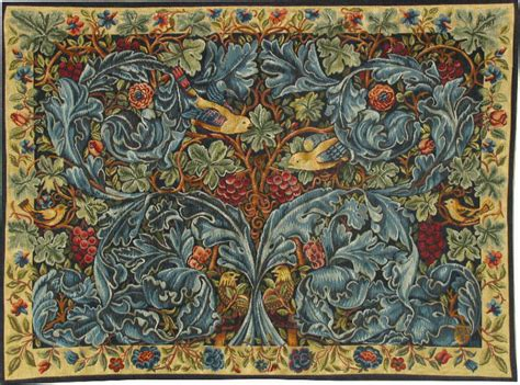 Kitchen Splashback acanthus and vine tapestry william morris tapestries