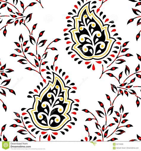 design pattern usage paisley seamless floral colour design pattern border stock