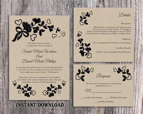 free rustic printable wedding invitation templates for word diy lace wedding invitation template set editable word