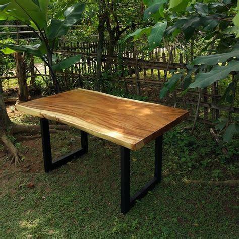 Meja Makan Trembesi Furniture Nakas Rak Kursi Sofa Partisi 1 meja makan kayu trembesi utuh jepara heritage