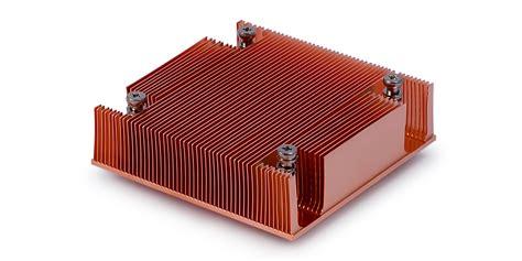 custom copper heat sink thermo cool skived copper heatsink