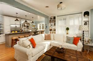 Kitchen And Living Room Spaces Living Room Kitchen Open Space Design Build Ideas