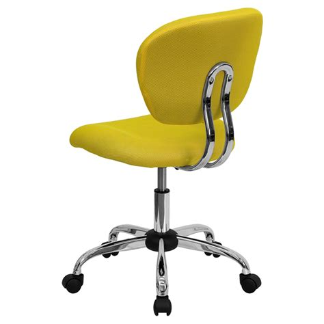 Mesh Swivel Task Chair Mid Back Yellow Dcg Stores Yellow Swivel Chair