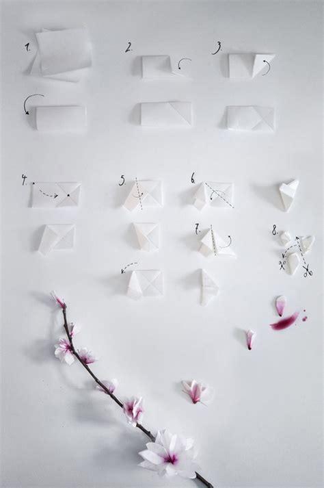tutorial origami cherry blossom diy paper cherry blossom tutorial paper pinterest