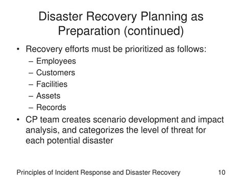 Disaster Recovery Roles And Responsibilities by Ppt Principles Of Incident Response And Disaster Recovery Powerpoint Presentation Id 262372